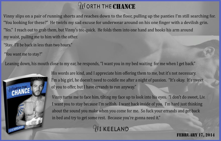 WORTH THE CHANCE EXCERPT AToMR Sneak peek 2